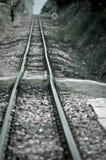 Railway tracks, cold tones Royalty Free Stock Photos