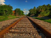 Railway tracks in countryside Royalty Free Stock Photography