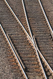 Railway tracks with crossing Royalty Free Stock Photos