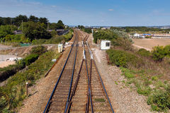 Railway tracks at Dawlish Warren evon England Stock Photos