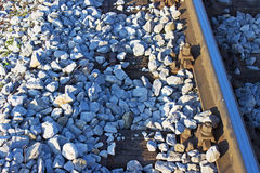 Railway Tracks Detail Royalty Free Stock Photo