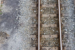 Railway tracks. That goes into the distance Royalty Free Stock Image