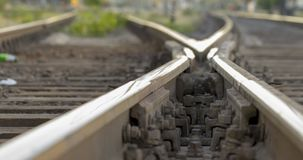 Free Railway Tracks, High-speed Rail Railway Pointwork Royalty Free Stock Photography - 118395747