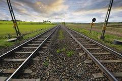 Free Railway Tracks Into Horizon Royalty Free Stock Image - 9540766
