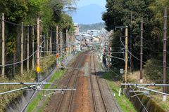 Railway tracks in Japan Stock Photography
