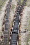 Railway tracks leading to different ways Royalty Free Stock Photography
