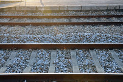 Railway tracks in Leiria Stock Photo