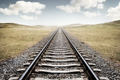 Railway Tracks. A long journey ahead royalty free stock photos