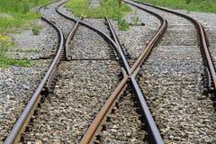 Railway tracks. Looking down the train tracks Stock Photography