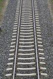 Railway tracks. Looking down the train tracks Royalty Free Stock Photography