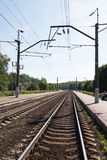 Railway Tracks in Minsk Stock Images