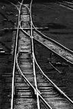 Railway tracks. Monochome Stock Image