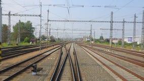 Railway tracks motion stock footage