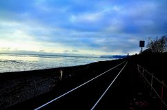 Railway tracks oceanside Royalty Free Stock Photo