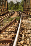 Railway tracks over the Bridge Stock Image
