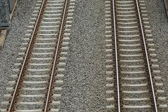 Railway tracks pair Royalty Free Stock Photos
