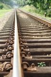 Railway tracks perspective Royalty Free Stock Photo