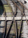 Railway tracks - points. Points on a Railroad line Stock Image