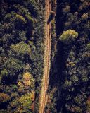Railway tracks. From the air stock photo