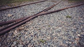 Railway tracks. Merge together. urban and city stock images