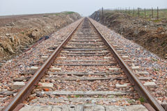 Railway tracks in a rural scene Royalty Free Stock Photography