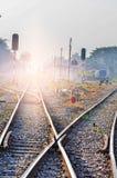 Railway tracks in a rural scene Stock Image
