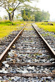 Railway tracks in a rural scene. The old railway tracks in a rural scene Royalty Free Stock Photos