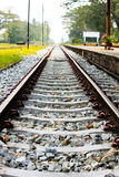 Railway tracks in a rural scene Stock Photography
