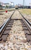 Railway. Tracks at  station,Thailand Stock Photos