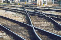 Railway tracks on a sunny day Stock Image