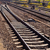 Railway Tracks and Switch Royalty Free Stock Images