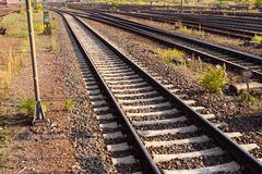 Railway Tracks and Switch Stock Images