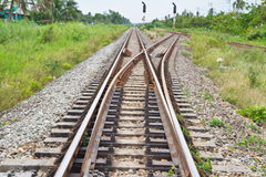 Railway Tracks and Switch Royalty Free Stock Photography