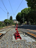 Railway tracks and a track switch Stock Image