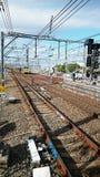 Railway Tracks and Train Royalty Free Stock Image