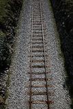 Railway tracks on a uniform background. Stock Photography