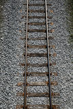 Railway tracks on a uniform background. Stock Images