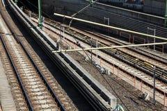 Railway tracks in Vienna Stock Photo