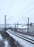 Railway tracks in winter. A lots of railway tracks in winter Stock Photos
