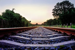 Free Railway Tracks With Pale Pastel Sunset Royalty Free Stock Photo - 10292975
