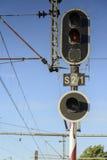 Railway traffic light Stock Photography