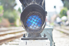 Railway traffic light Royalty Free Stock Photo
