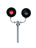 Railway traffic lights Royalty Free Stock Image
