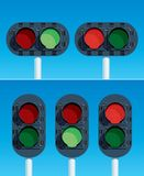 Railway Traffic Lights Stock Images