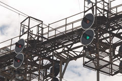 Railway traffic lights Royalty Free Stock Photo