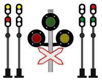 Railway traffic. Rail traffic for trains on a white background Stock Photos
