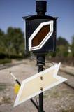 Railway traffic sign Stock Image