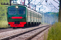 Railway train Stock Photo
