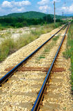 Railway train. Close range on a sunny day Stock Images