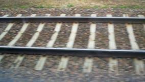 Railway train move stock video